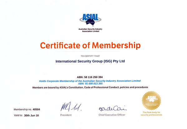 About Us International Security Group Isg